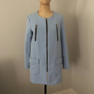 Zara Heavy Pea Coat azure