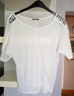 Zara Sommer Shirt Bluse mit cut outs weiß S fällt locker aus