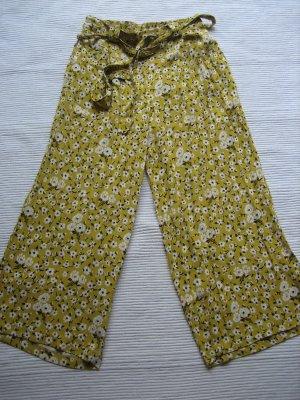 zara sommerhose gelb neu gr. s 36 bumen florak cullotes
