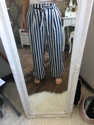 Zara Culottes wit-donkerblauw