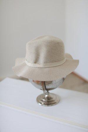 Zara Sommerhut Hut Stoffhut nude beige Floppy Hat One Size Gr. M