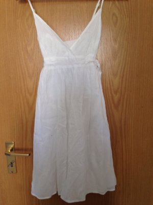Zara Vestido bustier blanco