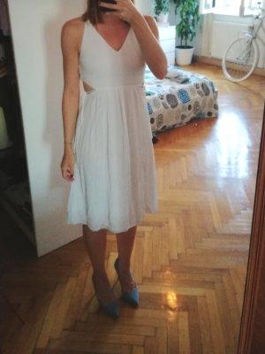 Zara Vestido cut out blanco Algodón