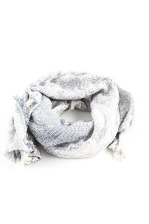 Zara Chal veraniego azul celeste-blanco puro look casual