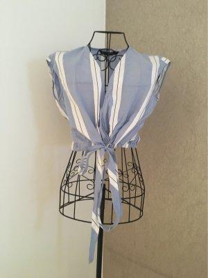Zara Camisa recortada multicolor Algodón