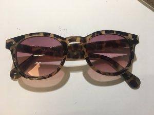 Zara Ronde zonnebril lichtbruin kunststof