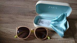 Zara Sonnenbrille Neon Grün Nude Cateye Round Rund