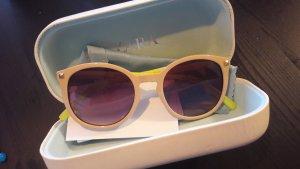 Zara Sonnenbrille Nude Neongrün Blogger Box
