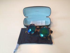 Zara Sonnenbrille rund blau verspiegelt Leo