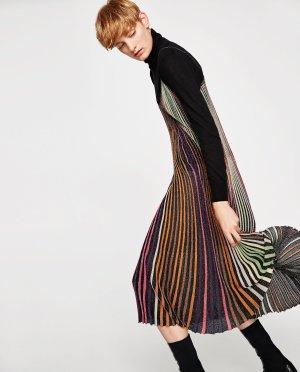 Zara Spaghetti-Träger Kleid Disco Dress Metallic in S BUNTES KLEID MIT GLITZEREFFEKT