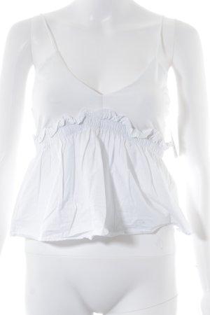 Zara Spaghettibandtopje wit casual uitstraling
