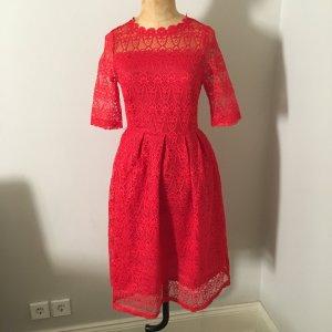 Zara Spain Spitzen Kleid Gr. 36 rot top