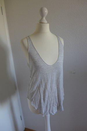 Zara Special-T Tanktop Shirt Top grau hellgrau Gr. S (M)