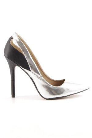 Zara Décolleté a punta argento-nero elegante