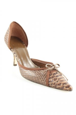 Zara Spitz-Pumps braun Animalmuster Animal-Look