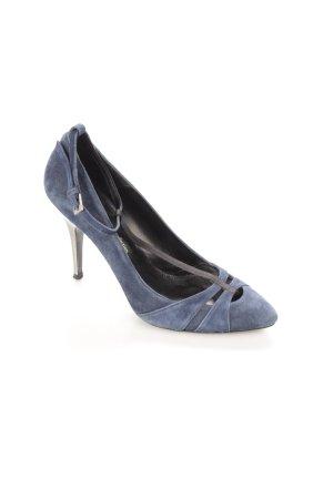 Zara Spitz-Pumps dunkelblau klassischer Stil