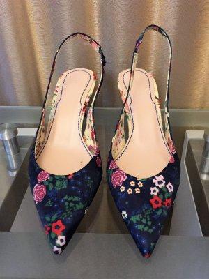 Zara Zapatos de punta multicolor fibra textil