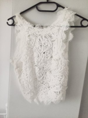 Zara Top cut out blanco