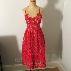 Zara Robe de cocktail rouge brique