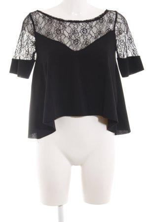 Zara Lace Blouse black elegant