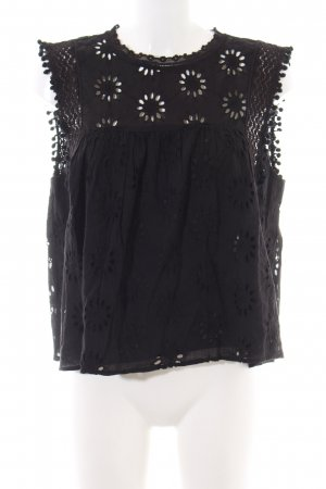 Zara Lace Blouse black casual look