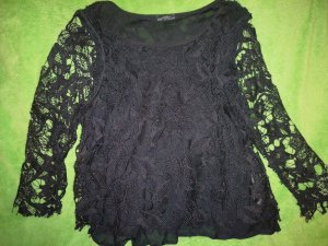 Zara Blusa in merletto nero
