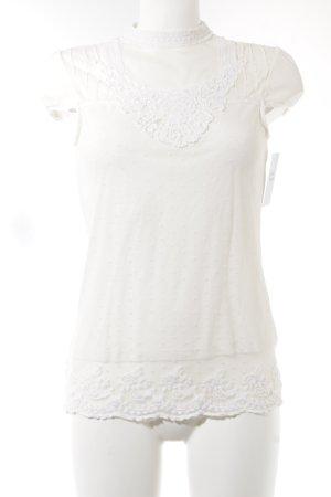 Zara Blouse en dentelle blanc cassé motif de tache élégant