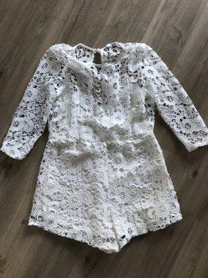Zara Woman Combinaison blanc coton