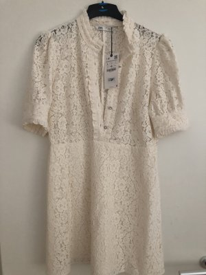Zara Lace Dress cream-oatmeal