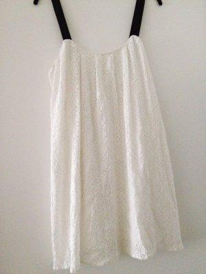 Zara Robe courte blanc-noir
