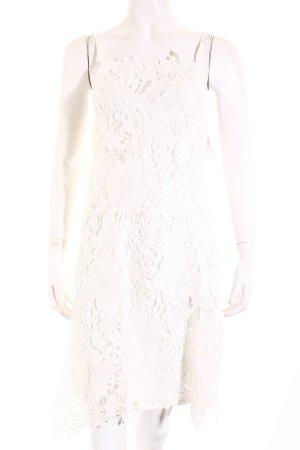 Zara Robe en dentelle blanc style romantique