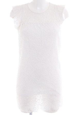 Zara Vestido de encaje blanco puro estilo «business»