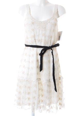 Zara Robe en dentelle blanc cassé élégant