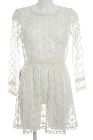 Zara Robe en dentelle blanc cassé style bohème