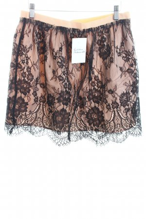 Zara Spitzenrock nude-schwarz extravaganter Stil