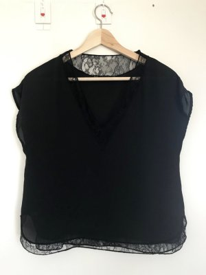Zara Basic Top di merletto nero