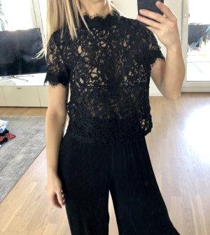 Zara Spitzentop S 36 Schwarz Spitze Top Bluse