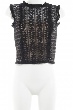 Zara Lace Top black casual look