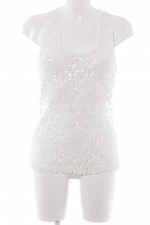 Zara Lace Top white floral pattern casual look
