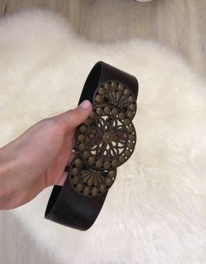 Zara Ceinture de taille gris brun
