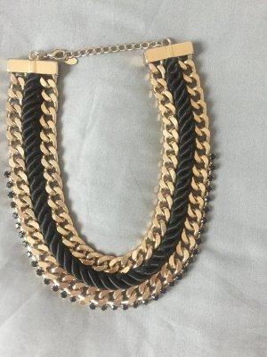 Zara Statement Necklace black-gold-colored