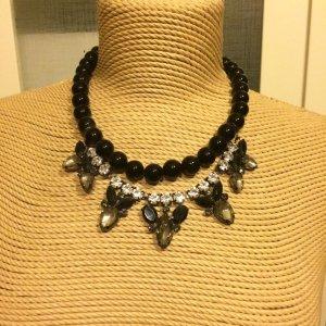Zara Collier incrusté de pierres noir-argenté
