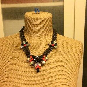 Zara Collier incrusté de pierres noir-rose