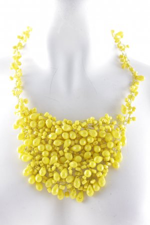 Zara Statement Necklace yellow extravagant style