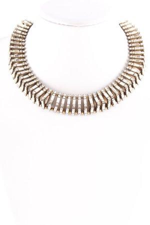 Zara Cadena de cuentas color oro Adornos de piedras preciosas