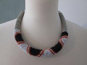 Zara Collar de perlas multicolor