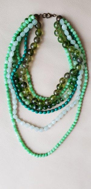 Zara Statement Necklace lime-green-green