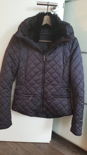 Zara Quilted Jacket black polyester