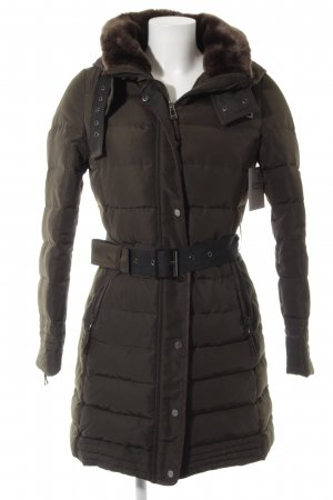 Zara Quilted Coat khaki casual look