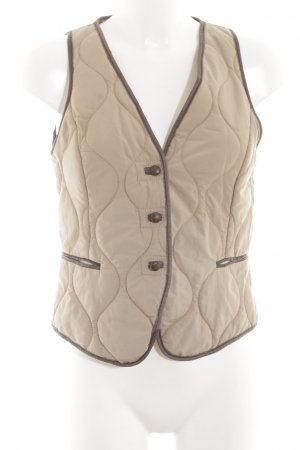 Zara Quilted Gilet cream quilting pattern casual look